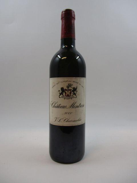 1 bouteille CHÂTEAU MONTROSE 2000 2è GC Saint Estèphe (étiquette tachée