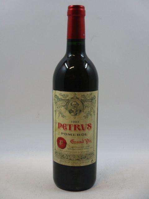 1 bouteille PETRUS 1993 Pomerol (étiquette léger tachée et froissée) (cave 7)
