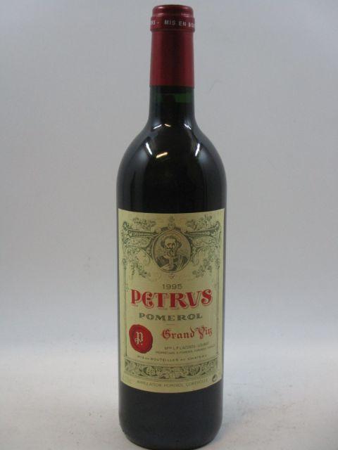 1 bouteille PETRUS 1995 Pomerol (étiquette fanée) (cave 7)