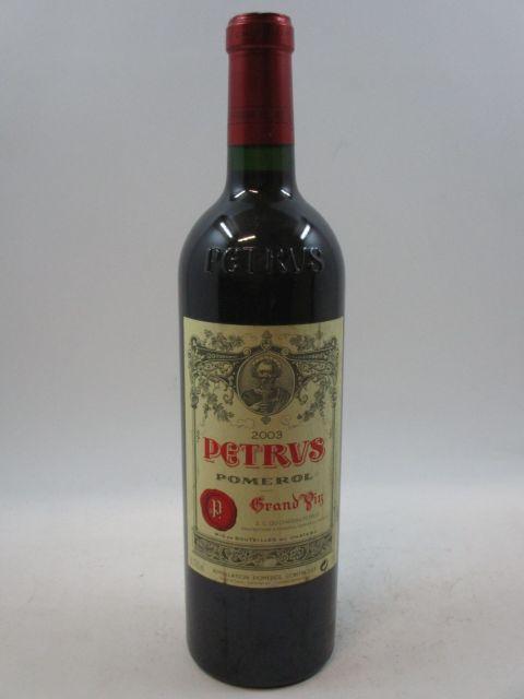 1 bouteille PETRUS 2003 Pomerol (étiquette léger tachée) (cave 7)