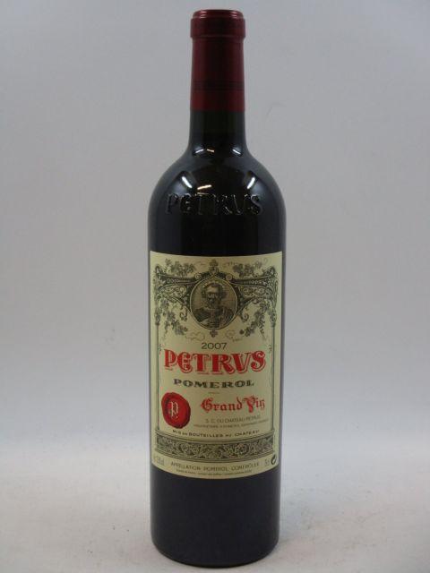 1 bouteille PETRUS 2007 Pomerol (cave 7)