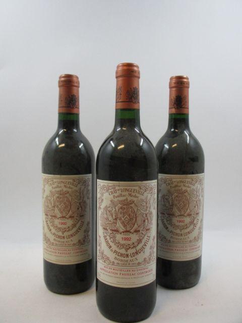 5 bouteilles CHÂTEAU PICHON LONGUEVILLE BARON 1992 2è GC Pauillac (étiquettes abimées) (cave 1)