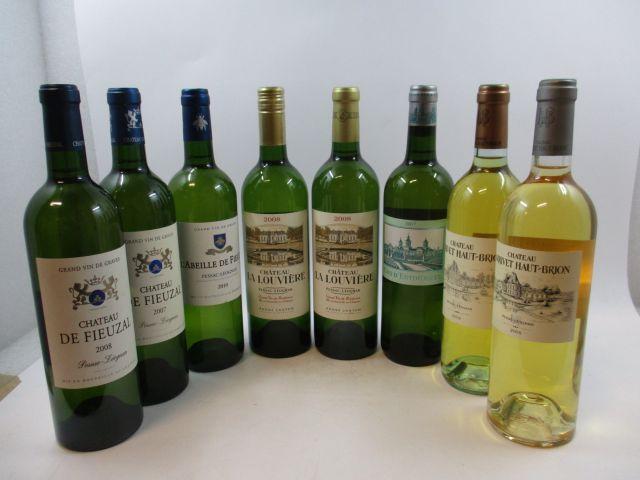 8 bouteilles 1 bt : CHÂTEAU DE FIEUZAL 2007 Pessac Léognan (blanc)