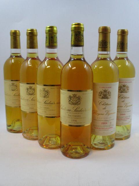 6 bouteilles 1 bt : CHÂTEAU RAYNE VIGNEAU 2004 1er cru Sauternes