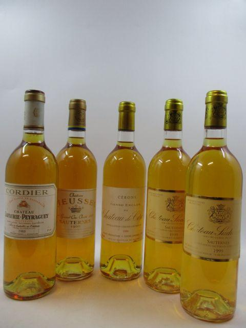 5 bouteilles 2 bts : CHÂTEAU SUDUIRAUT 1999 1er cru Sauternes