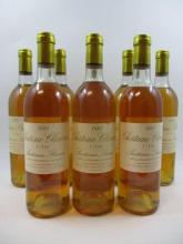 8 bouteilles CHÂTEAU CLIMENS 1981 1er cru Barsac (2 base goulot
