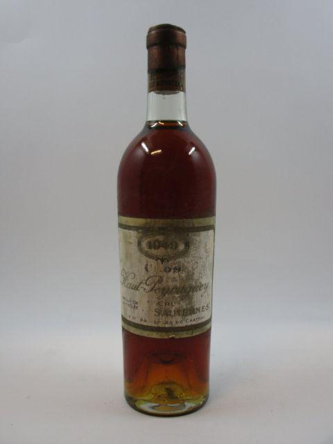 1 bouteille CHÂTEAU CLOS HAUT PEYRAGUEY 1949 1er cru Sauternes (base goulot