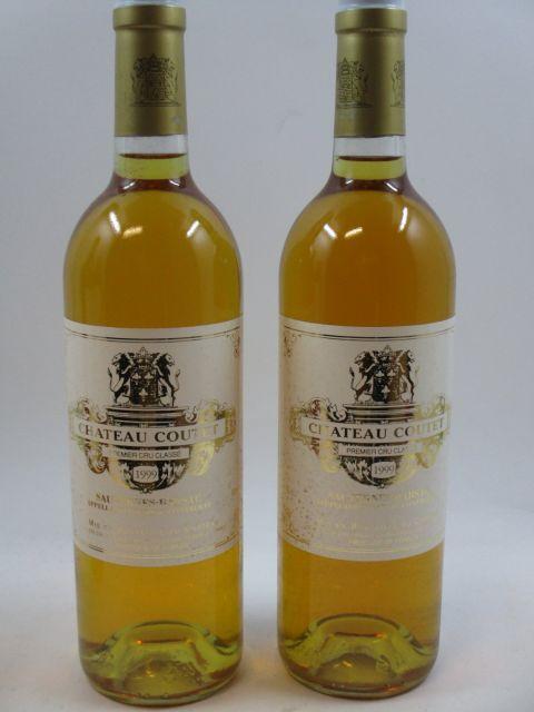 6 bouteilles CHÂTEAU COUTET 1999 1er cru Barsac  (étiquettes légèrement tachées)  (cave 2)