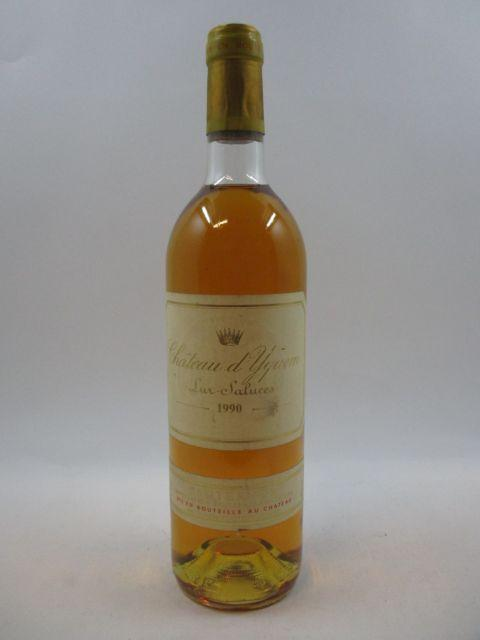 1 bouteille CHÂTEAU D'YQUEM 1990 1er Cru Supérieur Sauternes (base goulot