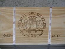 12 bouteilles CHÂTEAU D'YQUEM 2003 1er cru Supérieur Sauternes Caisse bois d'origine (cave 13)