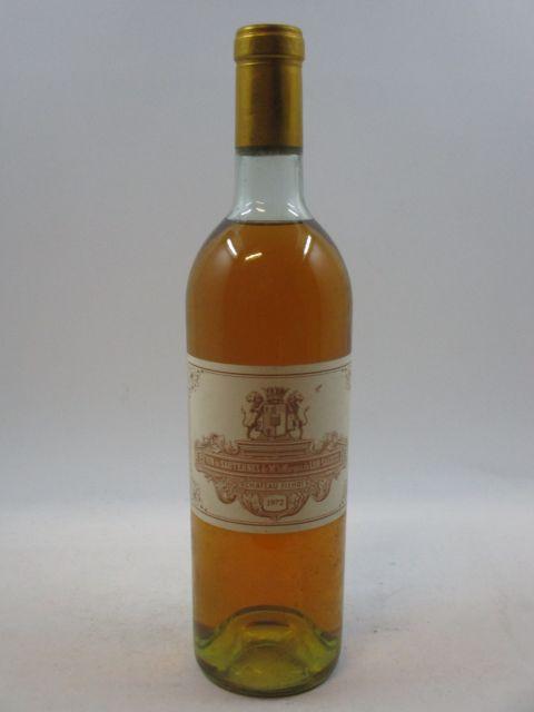 1 bouteille CHÂTEAU FILHOT 1972 2è cru Sauternes (haute épaule, étiquette fanée)