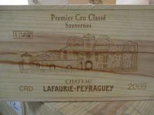 6 bouteilles CHÂTEAU LAFAURIE PEYRAGUEY 2003 1er Cru Sauternes Caisse bois d'origine (cave 1)