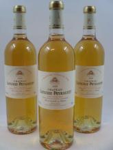3 bouteilles CHÂTEAU LAFAURIE PEYRAGUEY 2009 1er cru Sauternes  (cave 2)
