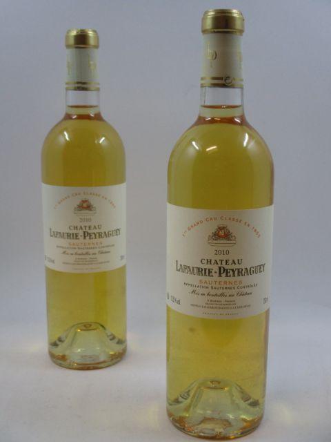 6 bouteilles CHÂTEAU LAFAURIE PEYRAGUEY 2010 1er cru Sauternes  (cave 2)