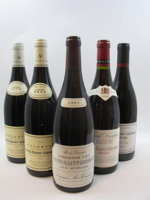 5 bouteilles 1 bt : NUITS SAINT GEORGES 2006 1er cru Les Procès. Joseph Drouhin