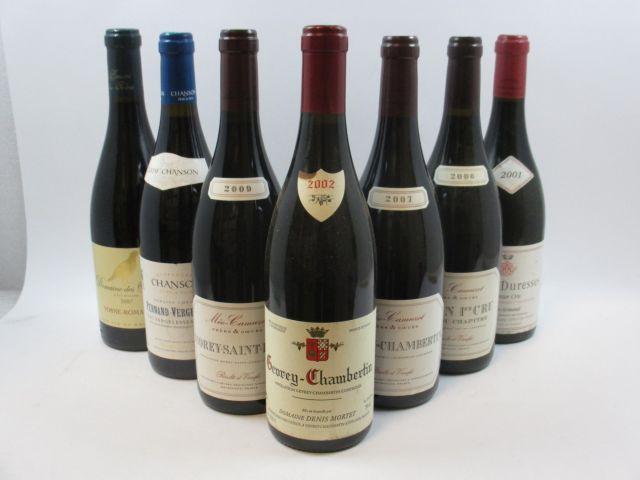 7 bouteilles 1 bt : PERNAND VERGELESSES 2009 1er cru Les Vergelesses. Chanson Père & Fils