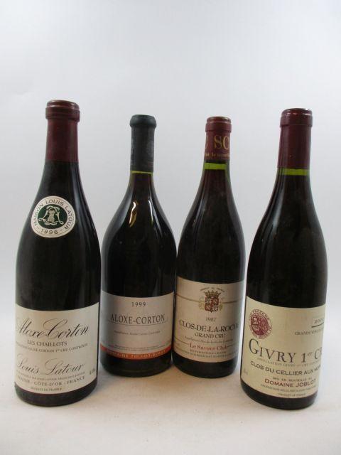 11 bouteilles 2 bts : ALOXE CORTON 1996 Les Chaillots. Louis Latour