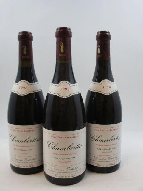 6 bouteilles CHAMBERTIN 1998 Grand Cru