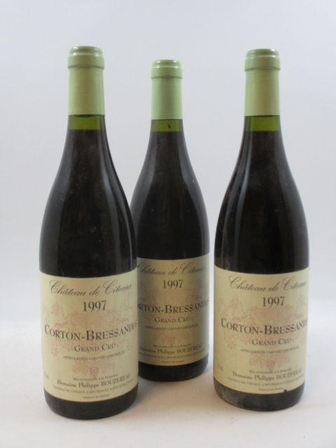 12 bouteilles CORTON BRESSANDES 1997 Grand Cru