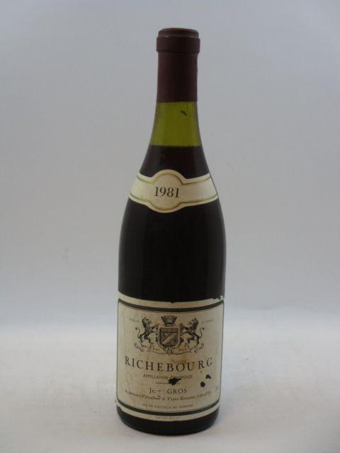 1 bouteille RICHEBOURG 1981 Domaine Jean Gros (niveau 2