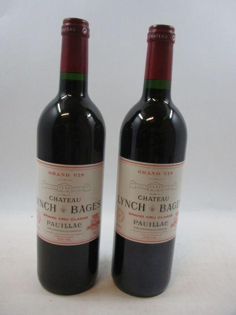 2 bouteilles 1 bt : CHÂTEAU LYNCH BAGES 1995 5è GC Pauillac