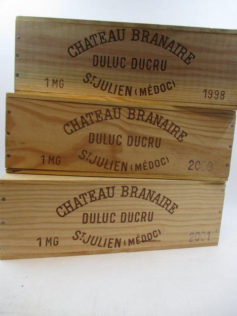3 magnums 1 mag : CHÂTEAU BRANAIRE DUCRU 1998 4è GC Saint Julien Caisse bois d'origine