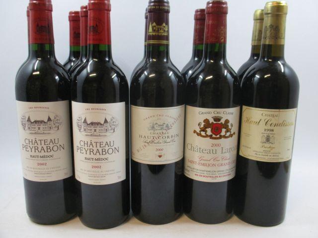 12 bouteilles 2 bts : CHÂTEAU HAUT CORBIN 2000 GCC Saint Emilion