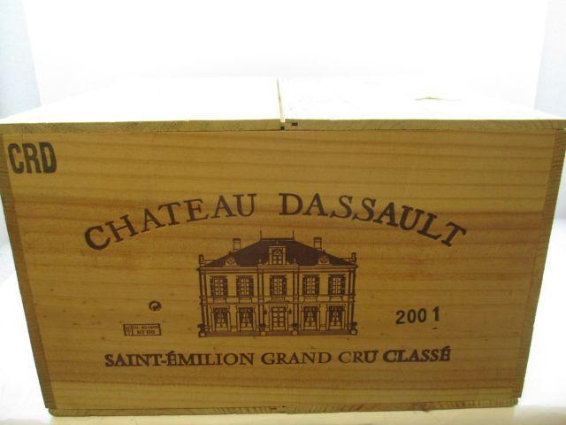 6 magnums CHÂTEAU DASSAULT 2001 GCC Saint Emilion Caisse bois d'origine (cave 12)