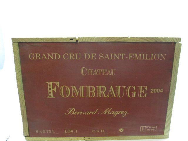 6 bouteilles CHÂTEAU FOMBRAUGE 2004 GCC Saint Emilion Caisse bois d'origine (cave 12)