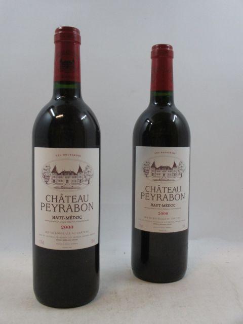 12 bouteilles CHÂTEAU  PEYRABON 2000 Pauillac Caisse bois d'origine  (cave 12)