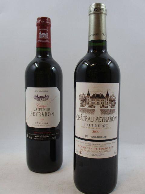 12 bouteilles : 6 bts CHÂTEAU LA FLEUR PEYRABON 2009 Pauillac Caisse bois d'origine 6 bts : CHATEAU PEYRABON 2009 Caisse bois d'...