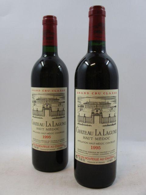 12 bouteilles CHÂTEAU LA LAGUNE 1995 3è GC Haut Médoc Caisse bois d'origine (cave 12)