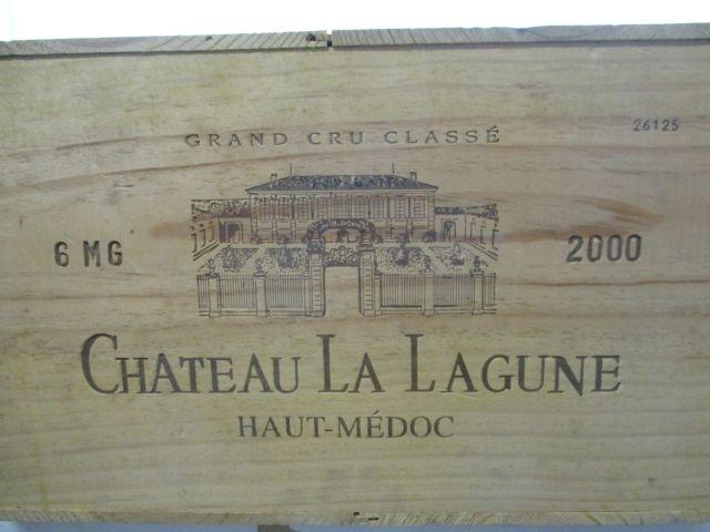 6 magnums CHÂTEAU LA LAGUNE 2000 3è GC Haut Médoc Caisse bois d'origine (cave 12)