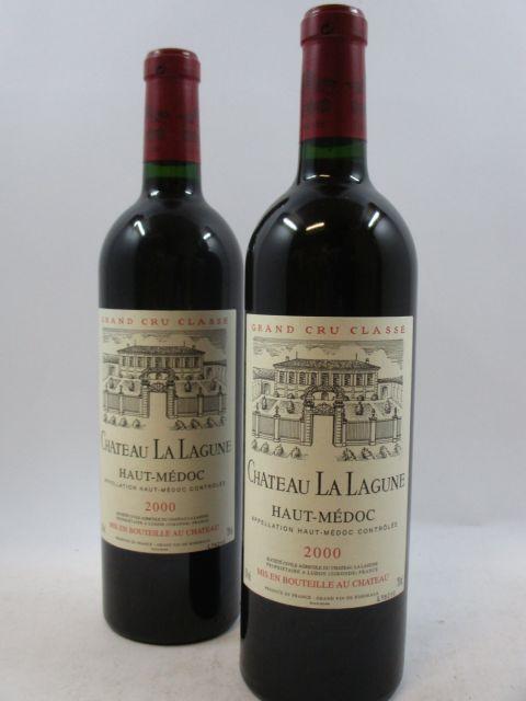 12 bouteilles CHÂTEAU LA LAGUNE 2000 3è GC Haut Médoc Caisse bois d'origine (cave 12)