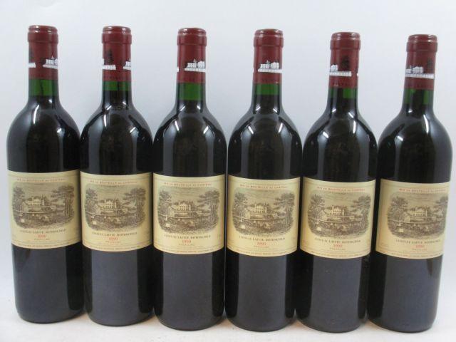 6 bouteilles CHÂTEAU LAFITE ROTHSCHILD 1990 1er GC Pauillac (cave 3)