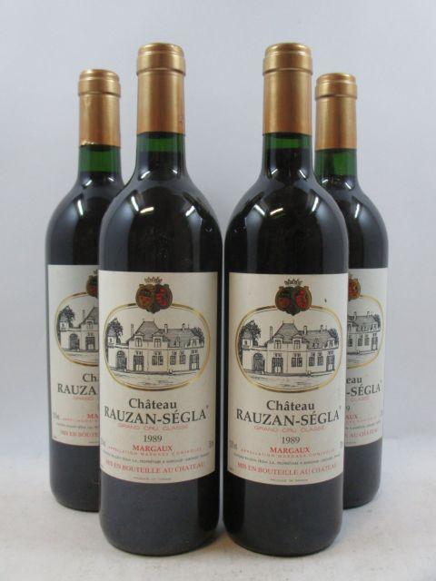 10 bouteilles CHÂTEAU RAUZAN SEGLA 1989 2è GC Margaux  (cave 3)