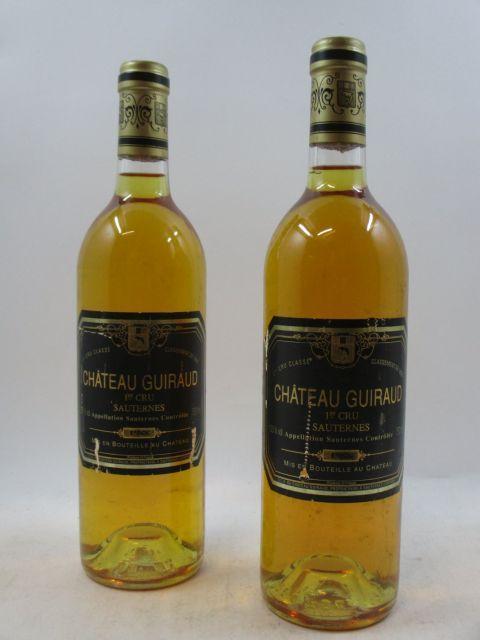 6 bouteilles CHÂTEAU GUIRAUD 1988 1er cru Sauternes (étiquettes abimées) (cave 3)