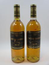 10 bouteilles CHÂTEAU GUIRAUD 1981 1er cru Sauternes (4 base goulot, étiquettes abimées, capsules léger abimées) (cave 6)