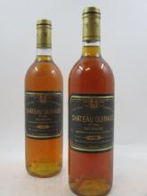6 bouteilles CHÂTEAU GUIRAUD 1990 1er cru Sauternes (étiquettes légèrement abimées)