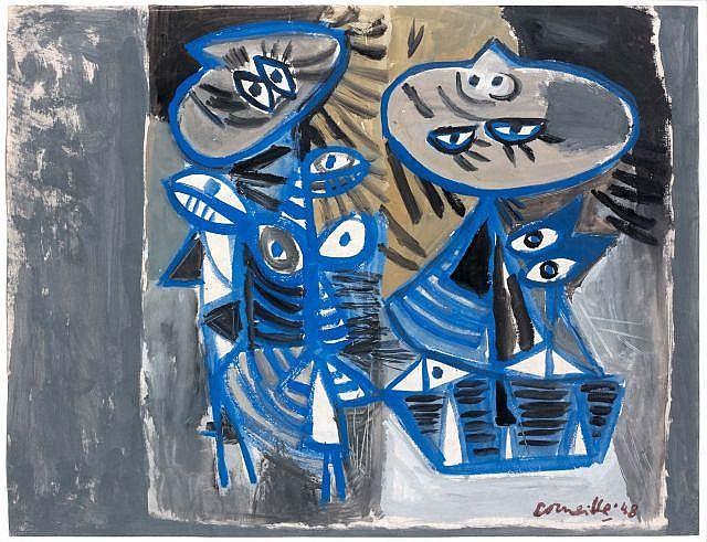 CORNEILLE (1922-2011) SANS TITRE, 1948 Gouache on paper
