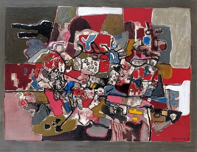 CORNEILLE (1922-2011) FETE BRETONNE, 1960 Gouache and ink on paper