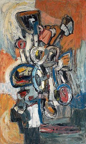 Jacques DOUCET (1924 - 1994) SANS TITRE, 1957 Oil on canvas