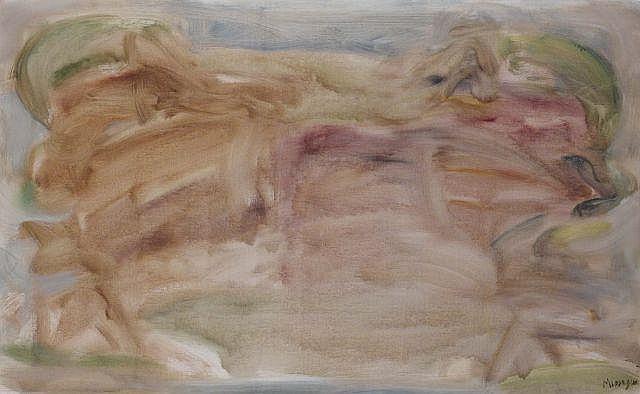 Jean MESSAGIER (1920-1999) JOURNEES D'EAU CLAIRE, juin 1957 Oil on canvas