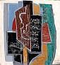 Ismael de LA SERNA (Grenade, 1897- Paris, 1968) COMPOSITION A LA GUITARE Huile sur massonite, Ismael González