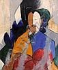 Jean CROTTI (Bulle, 1878-Neuilly-sur-Seine,1958) PORTRAIT D' ETIENNE BIGNOU, 1944 Huile sur papier marouflé sur toile, Jean Crotti, Click for value