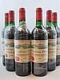 6 bouteilles CHÂTEAU PAVIE 1989 1er GCC (B) Saint Emilion (niveaux légèrement bas