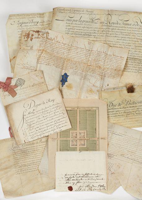 Archives des familles Baraudin, Vigny et alliées
