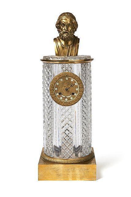 Pendule colonne d'époque Restauration