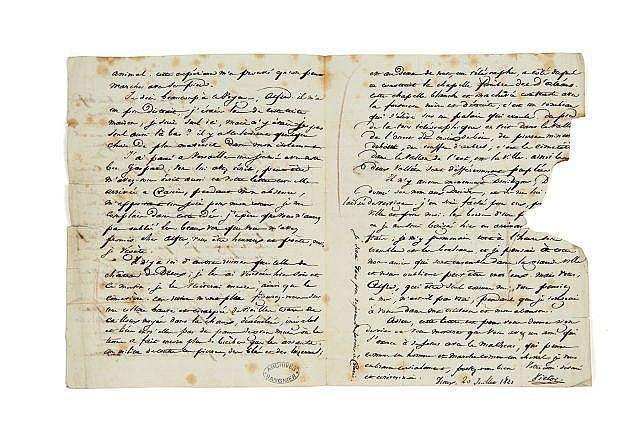 Victor HUGO 1802-1885 Lettre autographe signée à Alfred de Vigny