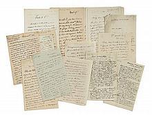 Jacques, Émile et Antoni DESCHAMPS 1741-1826, 1791-1871 & 1800-1869 Réunion de trente-deux lettres autographes signées à Alfred de V...
